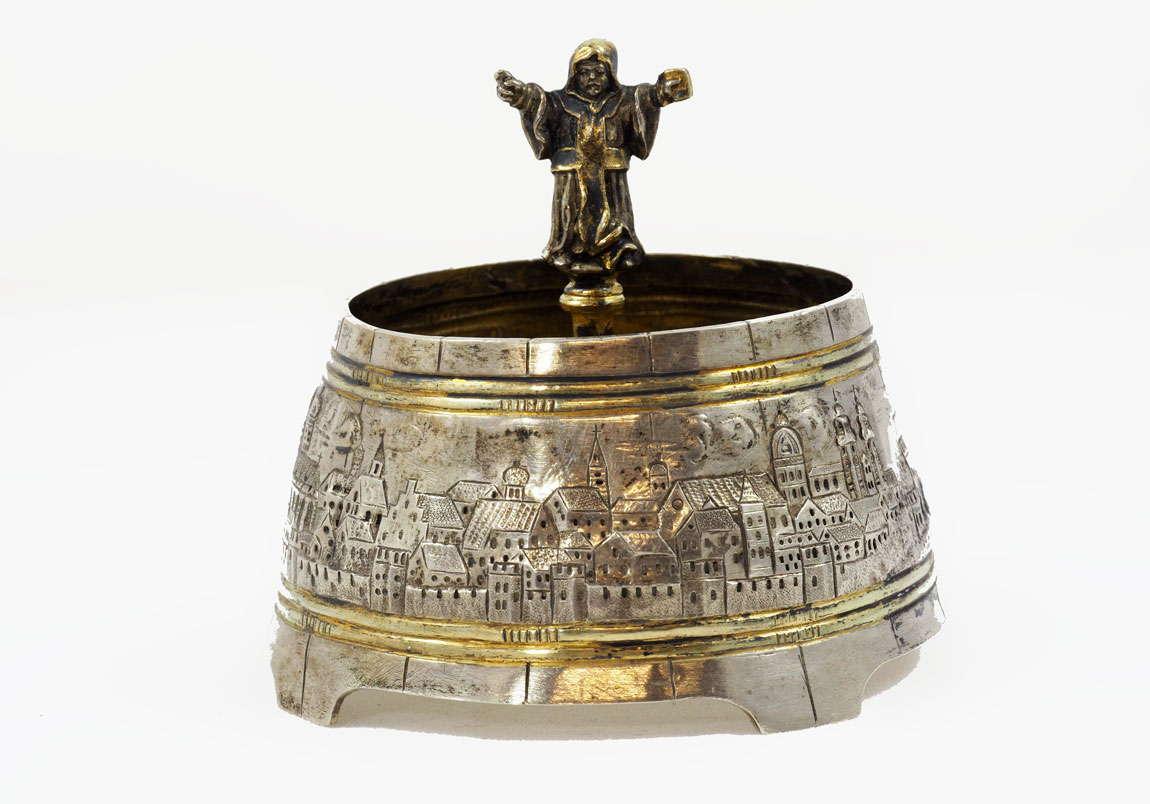 Antique-German-Silver-Salt-Dish-