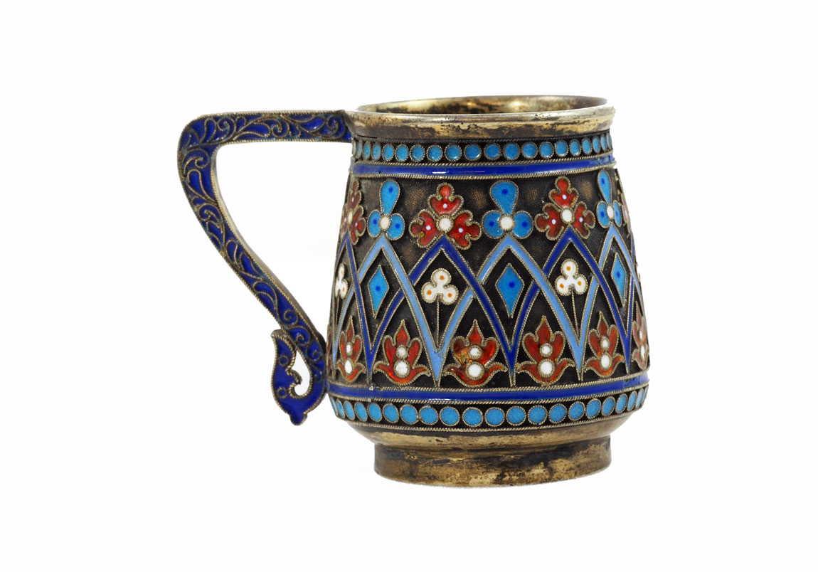 Russian-Antique-Silver-Enamel-Cup