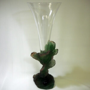 Daum vase patte de verre