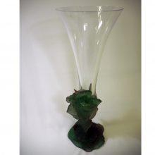 Daum-Vase- flute-pate de verre