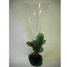 Daum-Vase- pate de verre