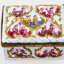 18-Century-Metal Enamel-Box-Chinoiseries
