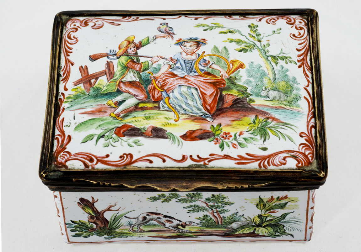 18-Century-Metal Enamel-Box