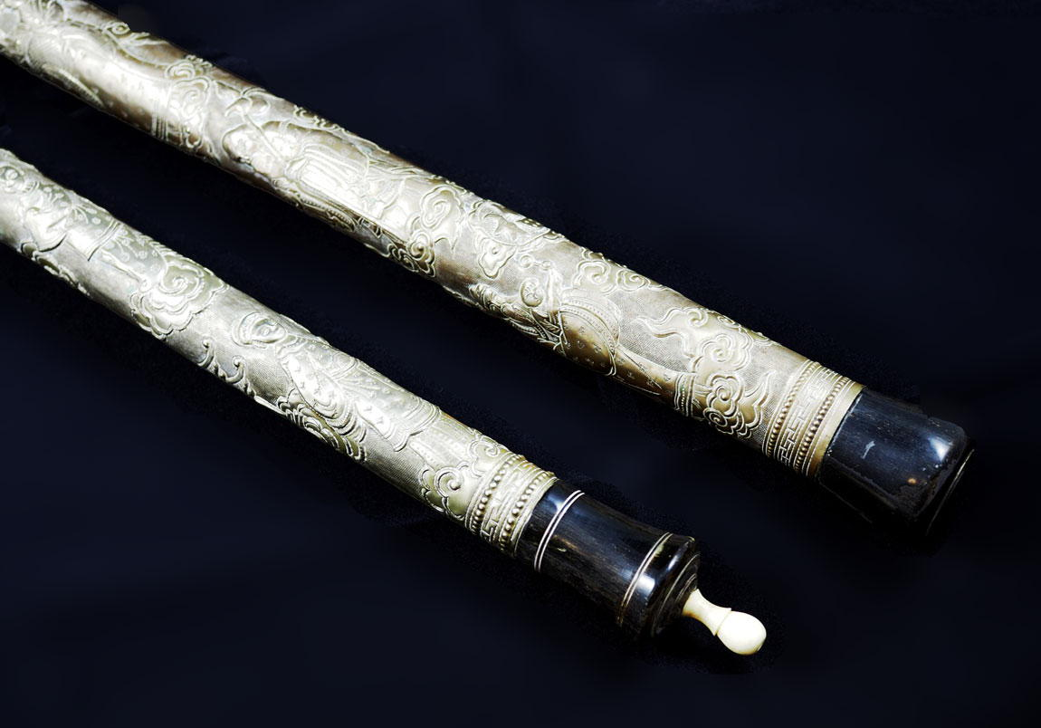 Antique Chinese Opium Pipes Babuino