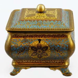 Antique-French-cloisonne-Box-