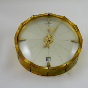 Le-Coultre-solid-BrassTable-Clock