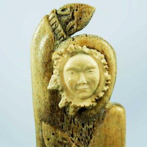 eskimo sculpture from petrified whale bone